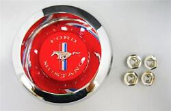 New 1967 1968 1969 Ford Mustang Wheelcover Chrome Spinner Center Caps Decal Logo