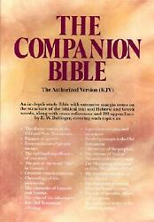 Companion Bible-kjv By E.w. Bulling English Bonded Leather Book Free Shipping