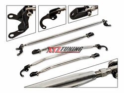 Strut Tower Tie Arm Bars Brace 4 Pieces Combo Upper +lower For 96-00 Honda Civic