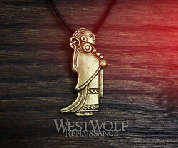 Viking Bronze Valkyrie Pendant --- Norse/medieval/woman/warrior/lagertha/jewelry