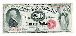 Fr.147 1880 20 Legal Tender Us Currency Paper Money Note Bill