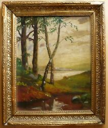 Mystery Antique Old Oil Painting Impressionism Colorism Plein Air Landscape Wow