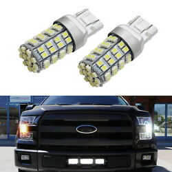 60-SMD Switchback Dual Color LED Turn Signal Light Bulbs For 2015-up Ford F-150
