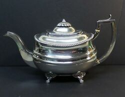 Antique English George Iii Sterling Silver Teapot London C. 1816 635 Grams