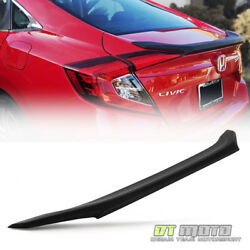 For Black 2016 2017 Honda Civic 4Dr Sedan Factory Style Rear Flush Mount Spoiler