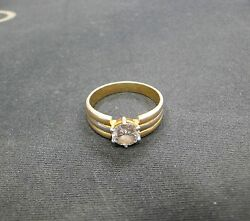 Fabulous Vintage Antique Solid 18k Gold Jewelry Handmade Diamond Ring India