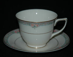 Mikasa Fine Ivory China Cup And Saucer La Rose Pattern Lac 75