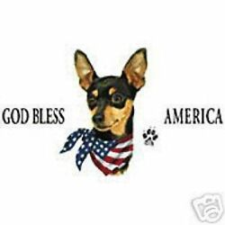 Minature Pinscher Patriotic T Shirt Pick Your Size 7 X Large To 14x Large