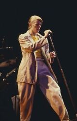 David Bowie Original 35mm Film Slide In Concert 1980and039s Performing On Stage