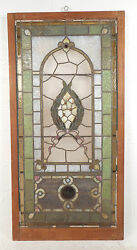 Vintage Stained Glass Window Panel 2939nj
