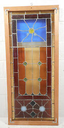 Vintage Stained Glass Window Panel 3068nj