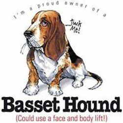 Basset Hound Funny T Shirt 7 X Large to 14 X Large Pick Your Size
