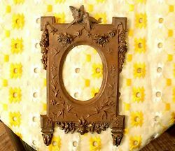 Unique Antique French Copper Frame High Relief Wedding Love Birds Mold For Frame