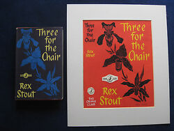 Original Dust Jacket Painting For Rex Stoutand039s Novel Three For The Chair Wi Book