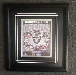 Oakland Raiders All Time-greats Framed 8x10