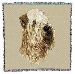Soft Coated Wheaten Terrier Dog Portrait Lap Throw 1189-LS Made in USA