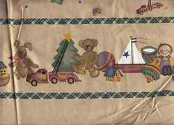 DAISY KINGDOM CHRISTMAS TOY BORDER FABRIC REMNANTS DOLLS CRAFTS QUILTING