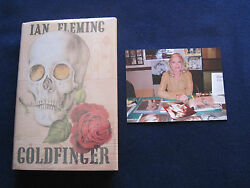 Goldfinger By Ian Fleming - Signed By Bond And039golden Girland039 Actress Shirley Easton