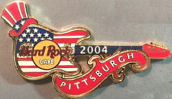 Hard Rock Cafe Pittsburgh 2004 July Special Event Guitar Pin Hrc Catalog 23440