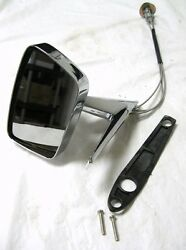 1967 1968 Ford Mustang Remote Outside Exterior Driver Door Mirror Lh Left Hand