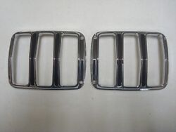 1964 1965 1966 Ford Mustang Tail Lamp Light Bezels Left And Right Pair Lh Rh