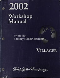 2002 Mercury Villager Factory Service Manual Original Ford Shop Repair Book
