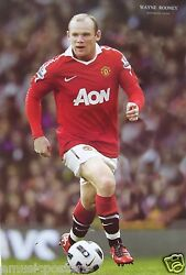 Wayne Rooney Controlling The Ball Poster -manchester United Fc Soccer/football