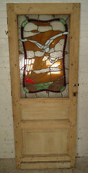 Vintage American Stained Glass Door 1870ns