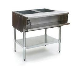 Eagle Group Swt2 2-well Electric Steam Table W/ S/s Shelf And Legs