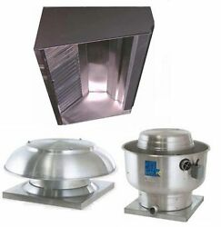 Superior Hoods S6hp-qs 6ft Restaurant Hood System W/ Make-up Air And Exhaust Fans