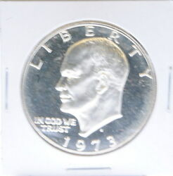 1973 S Ike 1 Dollar Eisenhower 40 Silver Proof Coin
