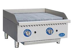 Globe Gcb24g-sr 24 Counter-top Gas Char-broiler - Radiant - Stainless