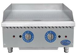 Globe Gg24tg 24 Counter Top Natural Gas Griddle W/ Thermostatic Controls