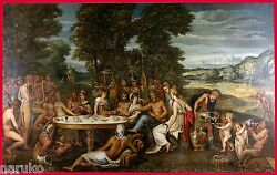 VERY LARGE PAINTING SIGNED BENJAMIN WEST 6' X 4' OWNED BY ARTIST A. NEMETHY SR.