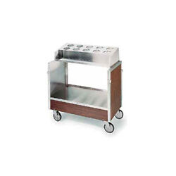 Lakeside 603 Stainless Steel Angle Frame Tray And Silver Cart