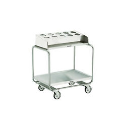 Lakeside 213 Stainless Steel Tubular U-frame Tray And Silver Cart