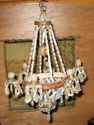 German doll house beaded antique Christmas candle Chandelier ornament