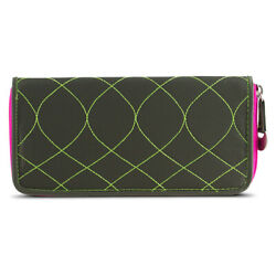Travelon SafeID Hack Proof Embroidered Ladies RFID Clutch Wallet Olive Berry $10.99
