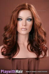 Luscious Remy Human Hair Lace Front Wig Multitoned Red Jon Renau - Angie