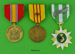 Vietnam Campaign, National Defense And Service Medal 2 Campaign Stars Us T1