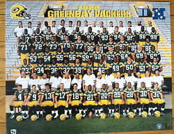 1996 Green Bay Packers Team Photo, Favre And Company