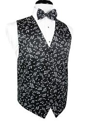 Musical Notes Big And Tall Tuxedo Vest And Bow Tie Set