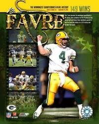 Brett Favre Packers Record 149 Wins Licensed Picture Poster Un-signed 8x10 Photo