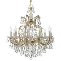 Crystorama Maria Theresa 11 Light Crystal Elements Chandelier - 4438-GD-CL-S