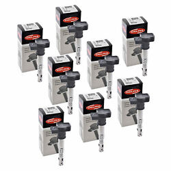 Set Of 8 Delphi Ignition Coil Gn10322 For Audi Volkswagen Seat A4 04-14