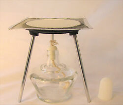 Lab Bunsen Burner Tripod With Mesh Screen Cast Iron Support Stand 6 Alcohol