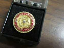 Grand Lodge Of Maryland 70 Years Lapel Pin K2a