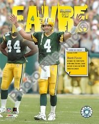 Brett Favre Packers 50,000 Yard Club Licensed Picture Poster 8x10 Photo