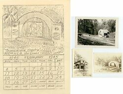 Wwii Feb 1945 New Guinea 102nd Ncb Seabees Calendar And Photos