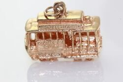 Vintage 14k Gold 3d Powell And Mason Trolley Charm San Francisco Cable Car Hyde